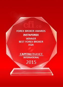 Broker Terbaik di Asia tahun 2015 dari Capital Finance International
