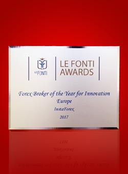 Broker Forex Terbaik Tahun Ini untuk kategori Inovasi Eropa 2017 dari Le Fonti Awards