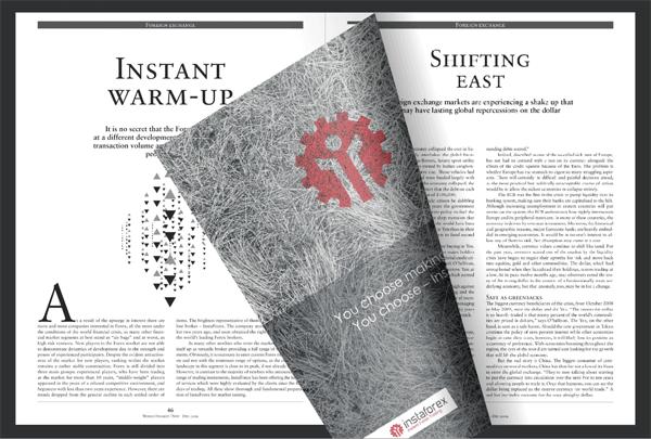 Halaman majalah World Finance