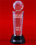 Broker ECN Terbaik di Asia tahun 2014 dari International Finance Magazine