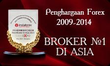 Dua kali sebagai Broker no 1 di Asia